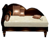 Brown Wood Love Chaise