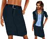 TF* Blue Straight Skirt