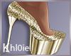 K Nye gold heels