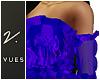 v. Kaia Ruffle Top - Blu