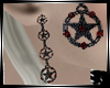 Jeweled Pentacle Earings