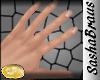 S ! Natural Short nails.