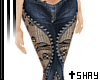 S~ Laced Jeans Dark