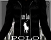 `NW Blk/Blk Polo Hoody