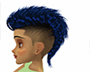 Blue Haie shaved sides.
