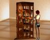 brown toy shelf