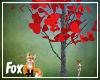 Fox~ Falling Heart Tree