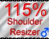 *M* Shoulder Resizer 115