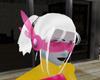 Pink laser space visor