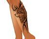 K*Wolf Tribal legTattoo