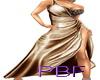 PBF*Sexy Long Brwn Dress