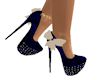 JMW~NavyBlue Bow Shoes