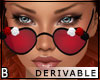 DRV Rose Heart Glasses