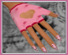 Kitty Pink Heart Gloves
