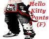 hello kitty pants female