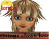 vintage clown hair