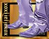 [L] Lilac Cowboy Boots M