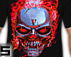 Skully Red Flame Lone