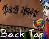 Bad Girl Back Tattoo