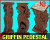 !@ Griffin pedestal