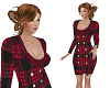 TF* Red Plaid Dress