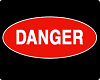 DANGER .. sticker