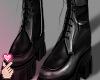 e leather boots b