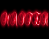 Red neon Master sign