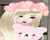 Pink Roses Doll's Hair