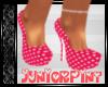 *T* Pink Polka Dot Heels
