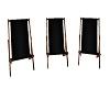 (K) Black Deck Chairs