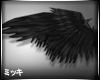 ! Black Feather Wing #F
