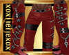 [L] Zipper RED Pants M