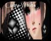 saki cube white earrings