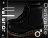 -V-   Black Biker Boots