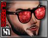 [H1] Red diamond glasses