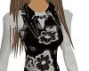 black flower print vest