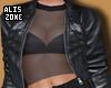[AZ] Black lather Jacket