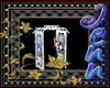 silver wedding arch