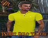 [M] T-Shirt Polo Yellow