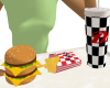 Animated Diner Food Tray