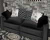 Blk/Gry Chitchat Sofa
