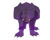 glass purple wolf statue