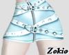 Belted skirt ||Blue