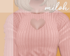 [M] Heart top - peach