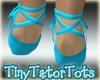 Kids Blue Ballet Shoes