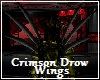 Crimson Drow Wings