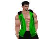green samuri top