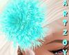! Turquoise Flower HairR