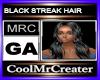 BLACK STREAK HAIR